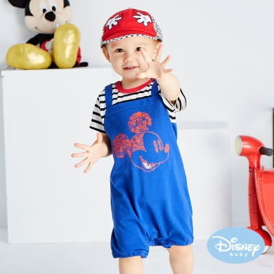 Disney baby 米奇剪影連身裝 深藍