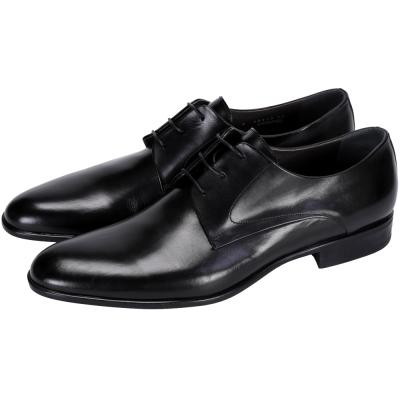 MORESCHI 牛皮綁帶紳士皮鞋(男款/黑色)