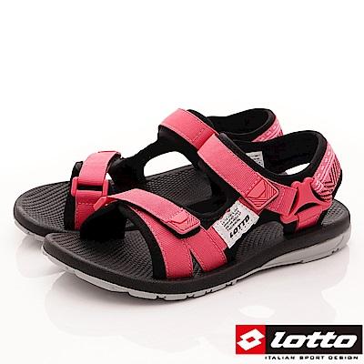 Lotto樂得-織帶Q彈耐磨涼鞋-SI162珊瑚紅(紅段)