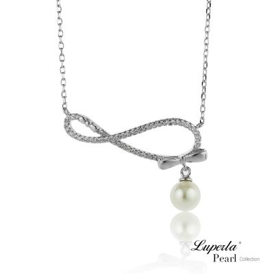 【大東山珠寶】淡水珍珠純銀晶鑽墬飾 無盡愛戀