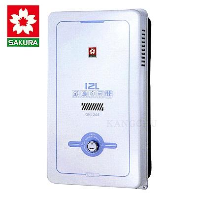 櫻花牌 GH1205 一般大廈用12L屋外型熱水器