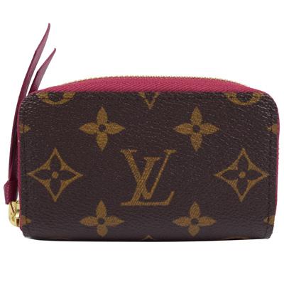 LV M61299 ZIPPY 經典花紋信用卡零錢包.紫紅