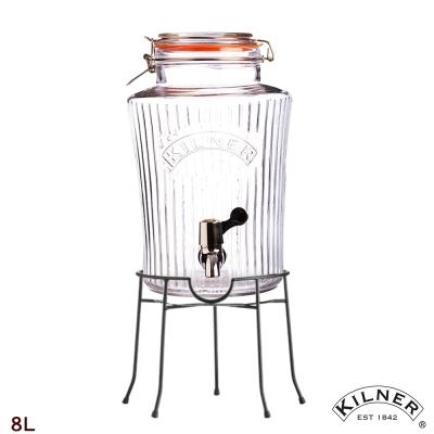 KILNER 復古風派對野餐飲料桶組(含桶架) 8L