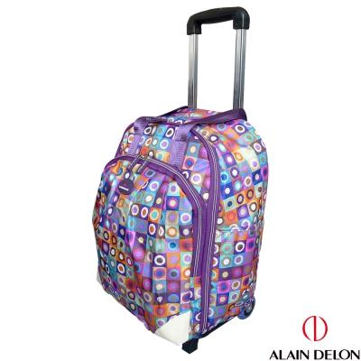 ALAIN DELON 可拆式多功能拉桿旅行袋(紫普風)