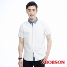 BOBSON  男款袖反折配色襯衫