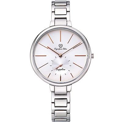 Olympia Star 奧林比亞之星  時尚曲線小秒針腕錶  28031MS