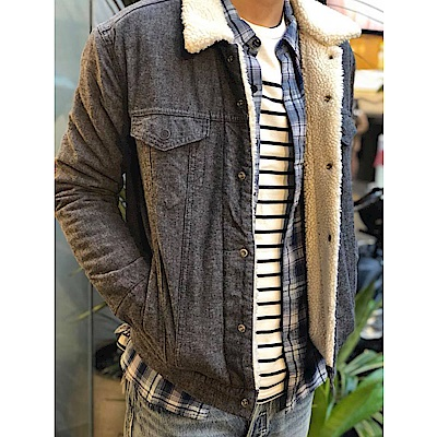 男款 夾克 灰色毛領 - Levis - 動態show