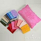 HOYACASA 純棉壓紋枕巾一對(共2入)多色任選