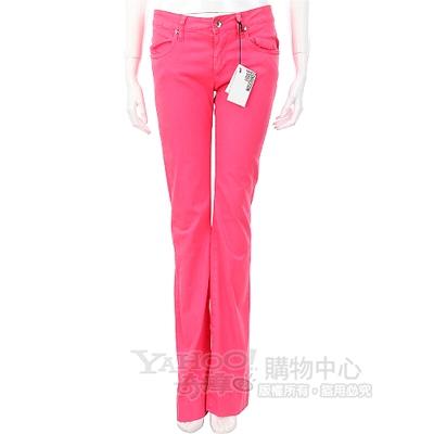 MOSCHINO 桃粉色圖騰印直筒長褲