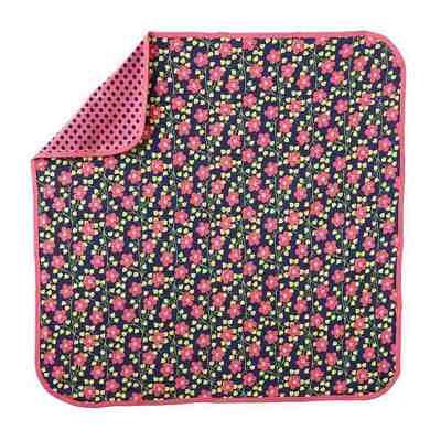 offspring ML700296N 小花園雙面蓋毯 / 嬰兒毯  (74x74cm)