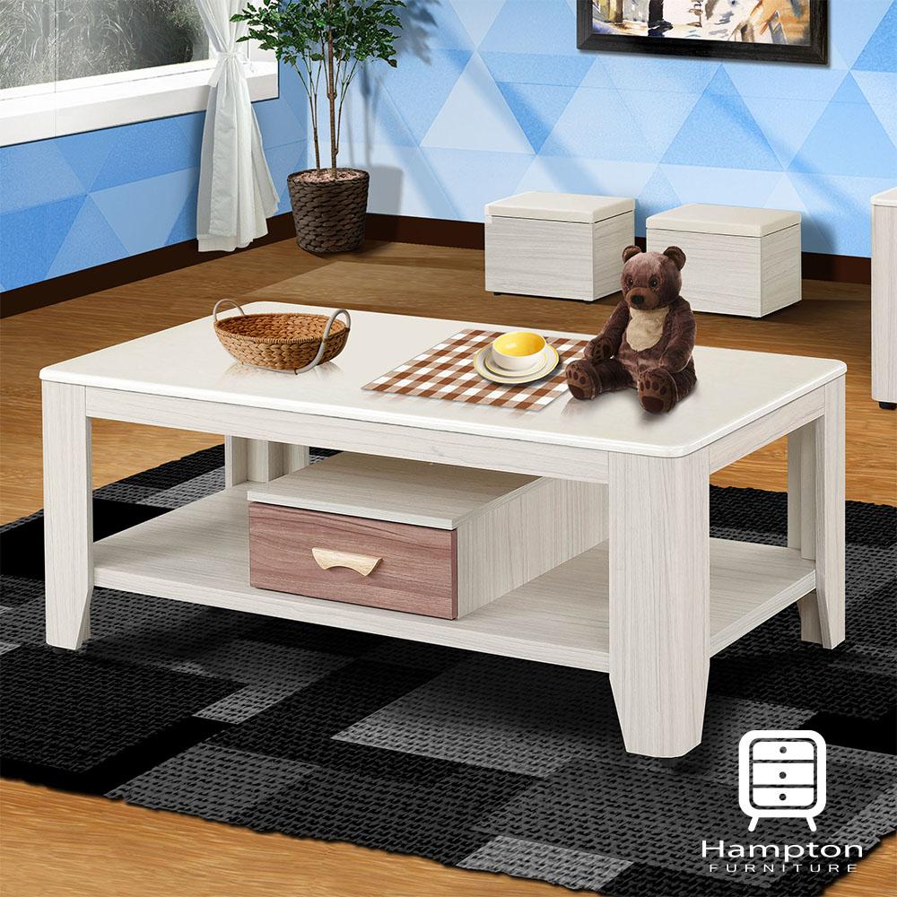 漢妮Hampton雪柔雪杉白石面大茶几(含凳)-130x70x55cm
