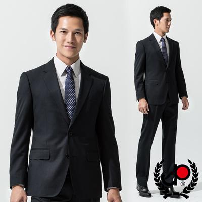 【極品西服】-摩登優雅條紋仿毛西裝外套_深藍(AS538-3G)