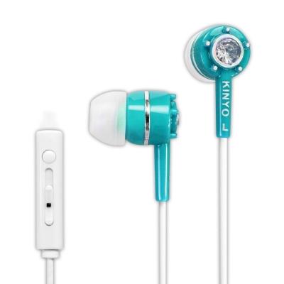 KINYO智慧型手機耳麥IPEM622-碧海藍