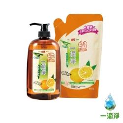 楓康一滴淨蘆薈多酚洗碗精2件組(1000g+800g) 柑橘/檸檬 任選