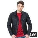 Lee 拉鍊式牛仔外套/101+-男款-深藍色