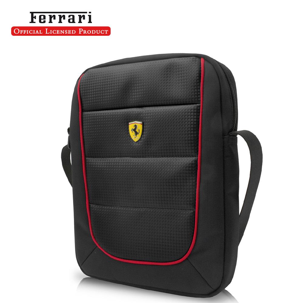 Ferrari 法拉利 10吋休閒側背包(黑)