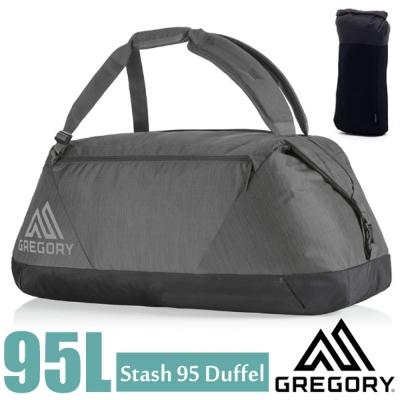 【美國 GREGORY】Stash Duffel 95L 超輕多功能耐磨三用裝備袋/陰影黑