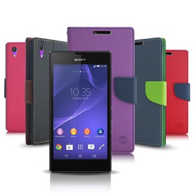 FOCUSS Sony Xperia T3 D5103 期待雙搭支架側翻皮套