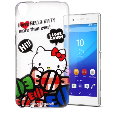 Hello Kitty Sony Xperia Z3+ E6553 透明軟式殼 糖果款