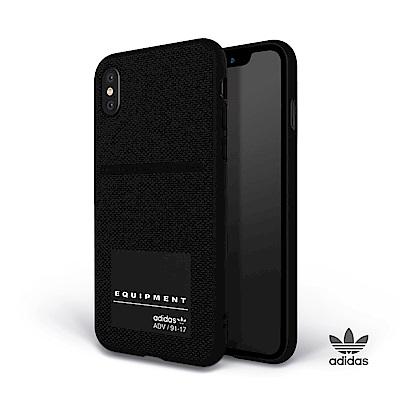 adidas iPhone X EQT 編織系列 插卡式手機殼 黑色