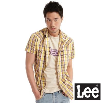 Lee-格紋襯衫-男款-黃