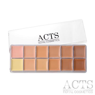 ACTS 維詩彩妝 淨透無瑕<b>12</b>色專業粉底膏盤
