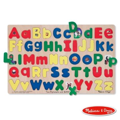 美國瑪莉莎 Melissa & Doug 大小英文字母板 拼圖