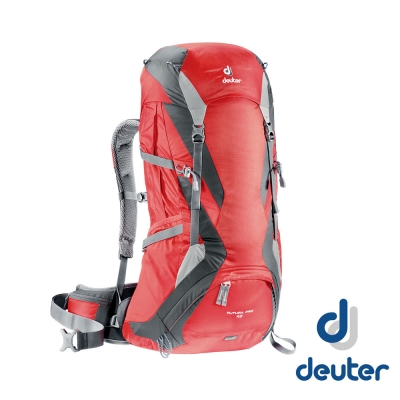 【德國 Deuter 】Futura Pro 42L 網架直立式透氣背包 紅/灰