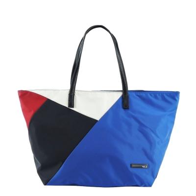 agnes-b-幾何圖形手提包-藍