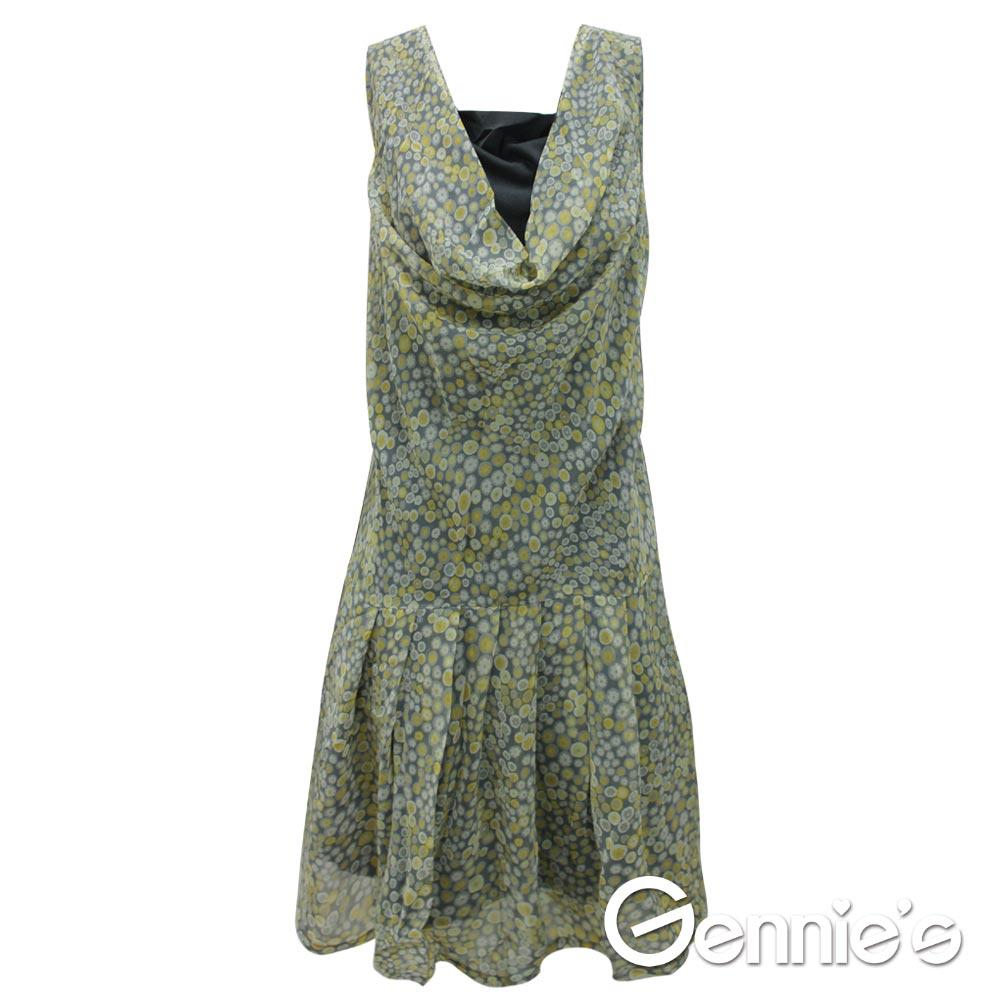 【Gennie's奇妮】 小花滿點飄逸雪紡春夏孕婦背心洋裝 (G1514)-M