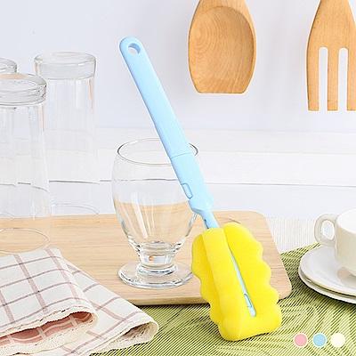 HIKARI日光生活  海綿杯刷 / 藍、粉、白3色隨機出貨