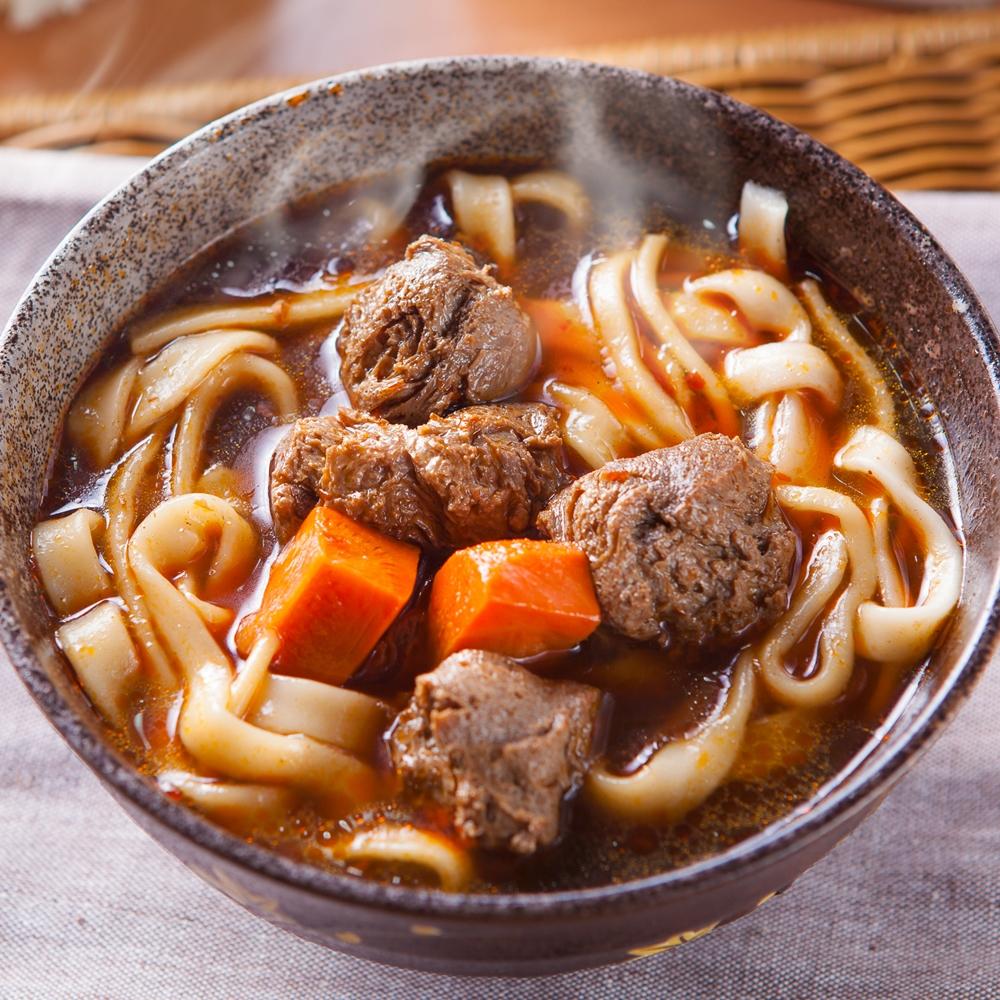 蔥媽媽 素食紅燒牛肉刀削麵(750g*3份)