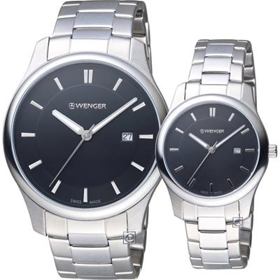 瑞士 WENGER City 城市經典時尚對錶(011441104+011421104)