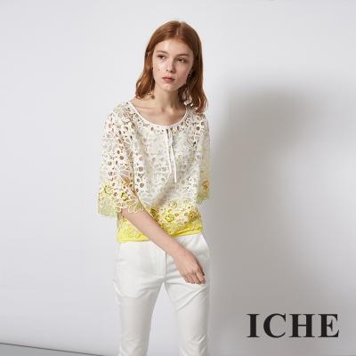 ICHE 衣哲 3D蕾絲雕花簍空造型上衣