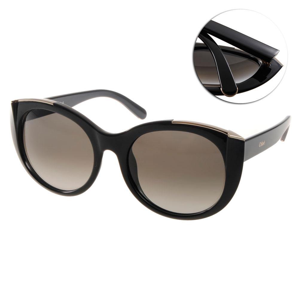 CHLOE太陽眼鏡 金屬裝飾款/黑#CL660S 001