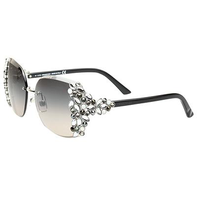 SWAROVSKI太陽眼鏡-限量款-銀色SW50