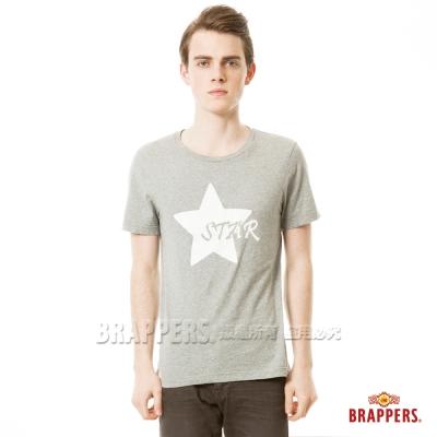 BRAPPERS 男款 STAR印花短袖T恤-麻灰
