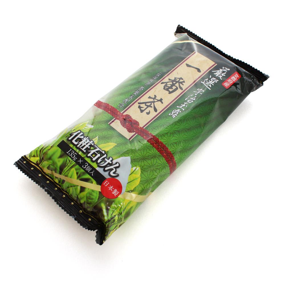 日本原裝 SOAP MAX宇智玉露一番茶香皂135g(3入)