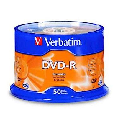 福利品 Verbatim 威寶 藍鳳凰 16X DVD-R 燒錄片 (50片)