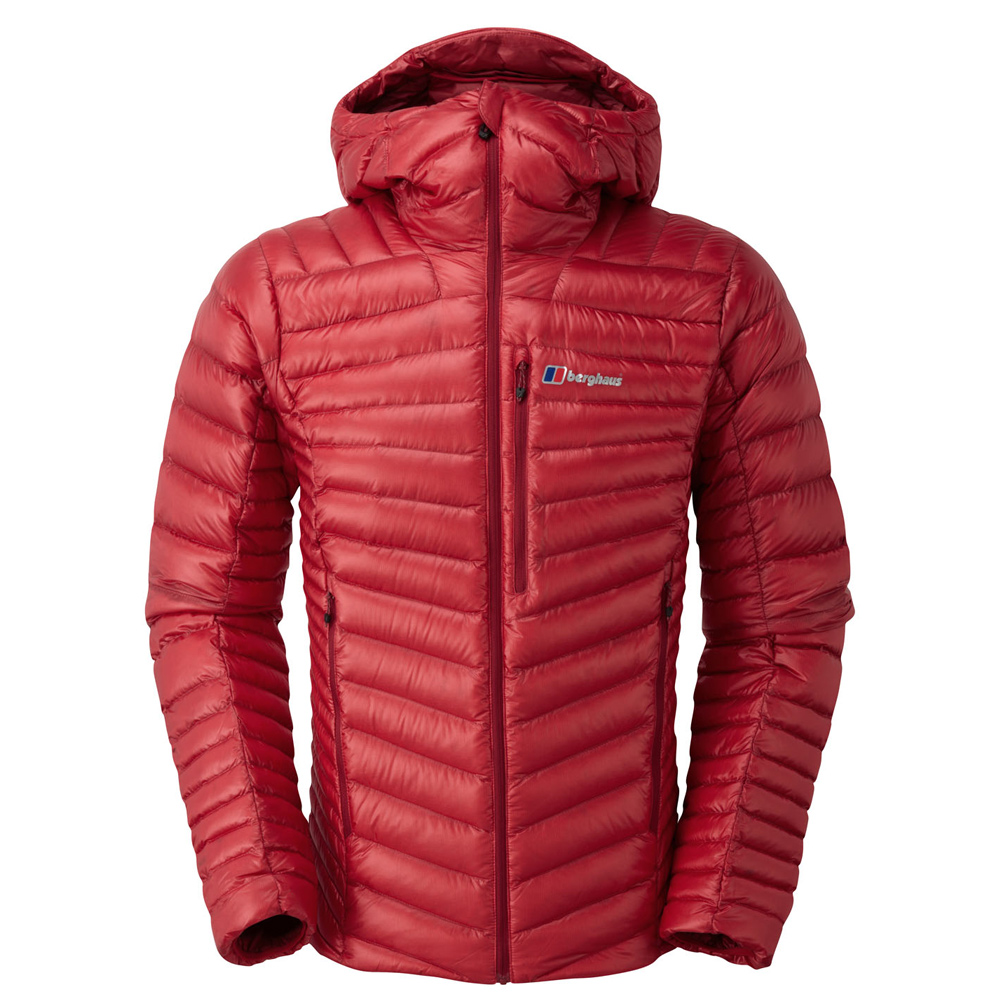 【Berghaus 貝豪斯】男款輕量溫度調節防潑水鵝絨外套F22MM6紅