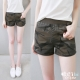 糖罐子-迷彩口袋羅紋縮腰短褲k4570-8H