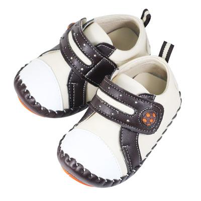 Swan天鵝童鞋-小足球翹頭學步鞋 1497 -米