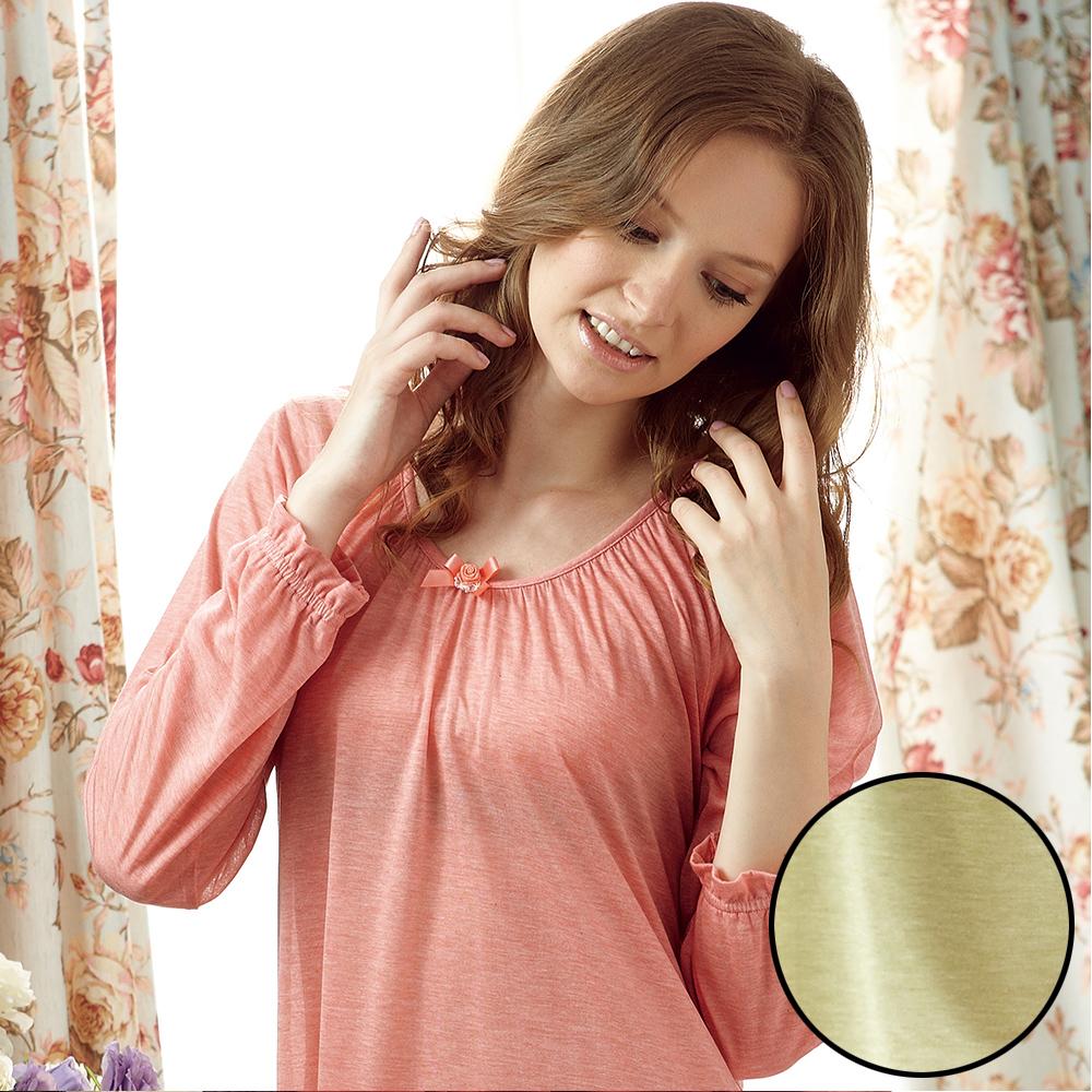 羅絲美睡衣 - 英國居家款長袖洋裝睡衣 (淺綠色)