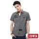 EDWIN 襯衫 隱形鈕扣襯衫-男-黑色