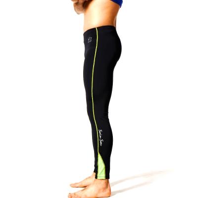 泳裝 水母褲 綠色邊緊身運動水母褲 聖手牌