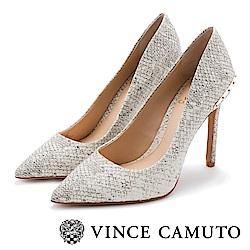 Vince Camuto女神款尖頭個性鉚釘高跟鞋-白色