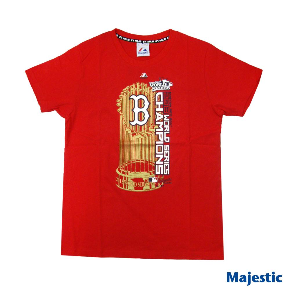 Majestic-波士頓紅襪隊世界大賽冠軍T恤-紅