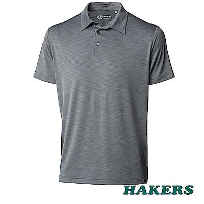 【HAKERS】男-抗UV POLO衫-鋼灰