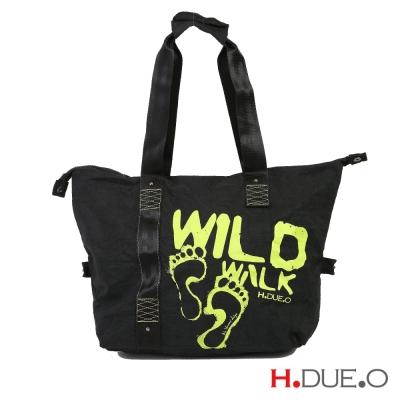 【義大利H.DUE.O】野外足跡手提肩背包(小) - 淡雅黃