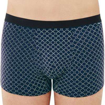 SOLIS 夢想之網系列M-XXL天絲棉前開口貼身四角褲(靛藍色)